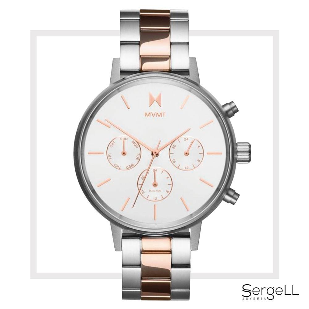 Plateado Mm 38 Reloj Rosado Mvmt NvnOwm80
