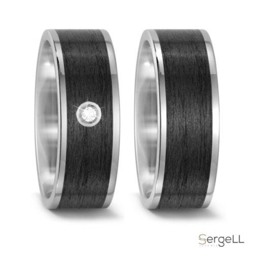 Anillo carbono y titanio hombre casual online anillos joyeria sergell