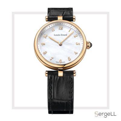 Louis erard 11810PR44.BRCB5 #reloj dorado mujer #reloj dorado #reloj mujer blanco y dorado #reloj de nacar #reloj de mujer dorado