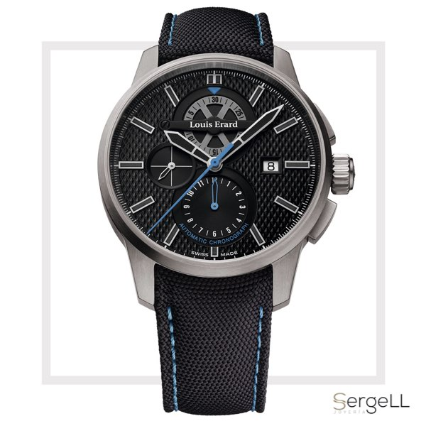#Reloj deportivo hombre #78240TS05BATT05 Louis Erard #Louis Erard Sportive #reloj titanio #reloj de titanio #reloj titanio hombre #relojes de titanio hombre