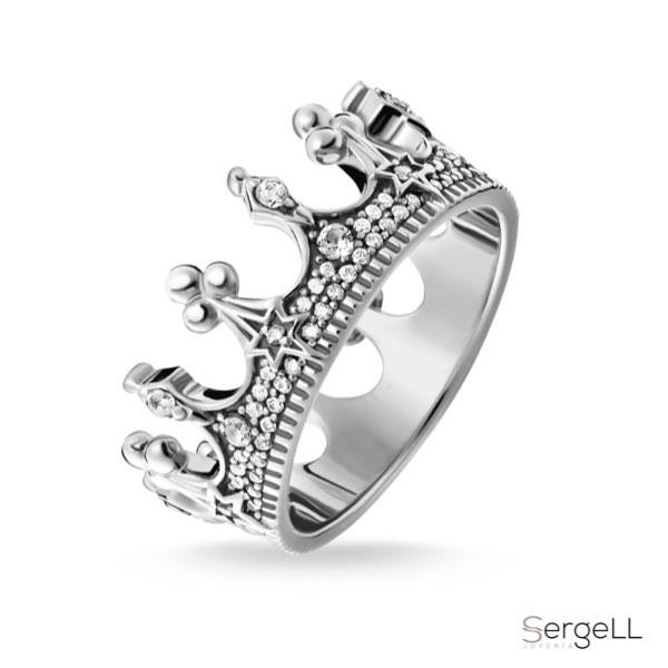 #thomas sabo TR2224-643-14-48 #Anillo corona plata 925 #joya femenina en forma de corona #comprar anillos corona plata #corona o anillo circular #new jewellery