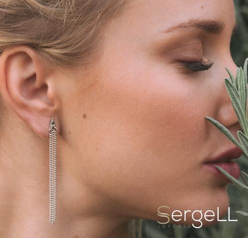 #Joyeria mujer #pendientes plata cascada #joyeria murcia #pendientes mujer murcia #pendientes mujer originales #joyeria sergell #sergell joyas #pendientes diamantes negros