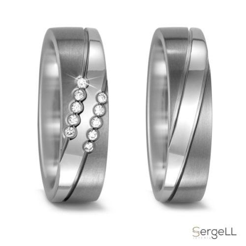 Anillos de titanio y diamantes Alianzas especiales pareja Moda mujer para bodas net Especialistas alianzas boda
