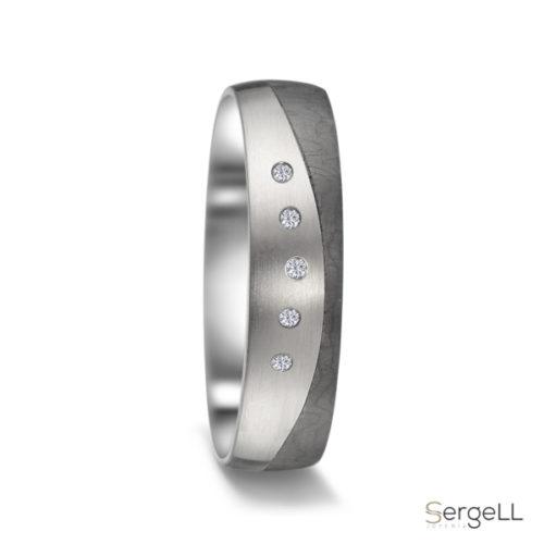 Alianza titanio carbono diamantes Alianzas para gays gay lgbt lgtb Anillos para boda