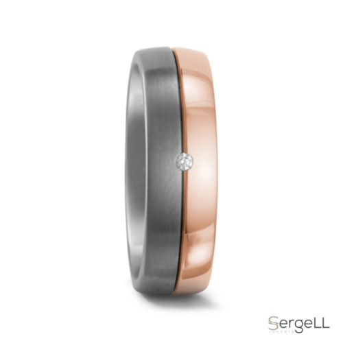 Alianzas oro rojo anillos titanfactory bodas en murcia joyería novios murcia anillos titanio online