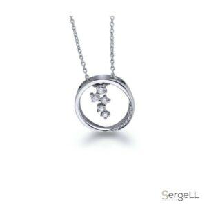 #Купить украшения онлайн #Алмазный кулон #Современная женская подвеска #Купить бриллианты онлайн #Купить онлайн женский кулон