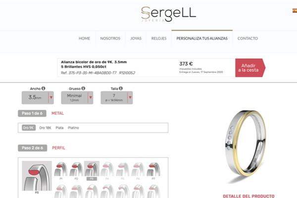 Diseña tu alianza configurar alianzas Lk eleka configurador anillos de boda personalizar alianzas personalizar mis alianzas