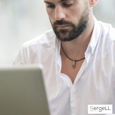 Colgantes para hombres, joyas SergeLL colgante plata hombre colgante diseño hombre colgantes hombre amazon
