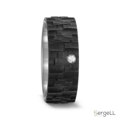 Anillo titanio negro hombre comprar anillos online en alicante prieto joyeria de moda