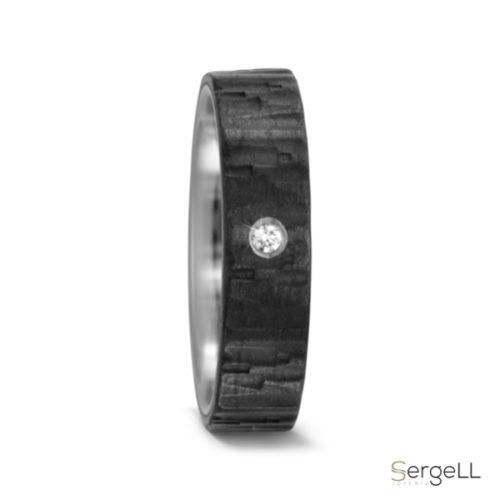 Anillo de titanio negro anillos negros hombre modernos Sevilla joyeria