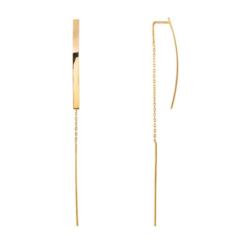 Pendientes para mujer, pendientes de oro 18k