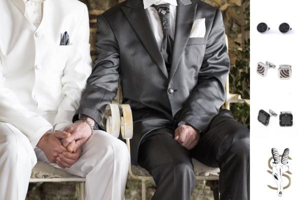Trajes boda gay, pareja gay, traje boda hombre, trajes de boda hombre, accesorios hombre