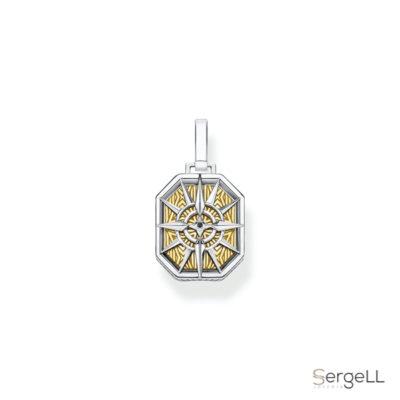#PE867-849-7 thomas sabo #colgante brujula oro #thomas packaging #brujula dorada #brujula de oro #comprar colgantes en Murcia