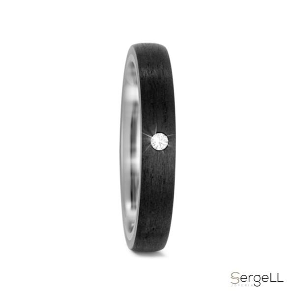 #anillo negro con diamante #anillos de titanio se oxidan #anillos de compromiso de titanio negro #anillo titanio precio #joyeria de piedra murcia