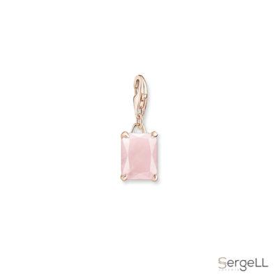 #colgante charm #piedra rosa #piedra rosa del amor #charms online store #thomas sabo charm necklace