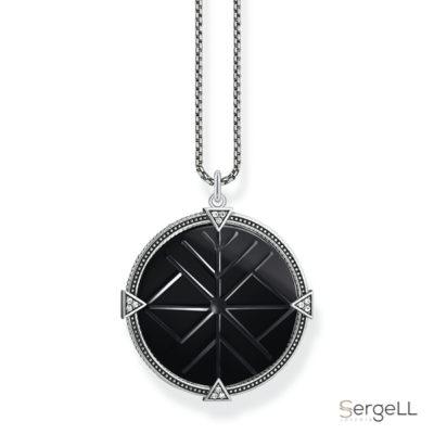 #Thomas sabo KE1998-508-11 #collar onix negro #onix negro collar #joyeria contemporanea #colgante negro mujer #joyeria contemporanea plata