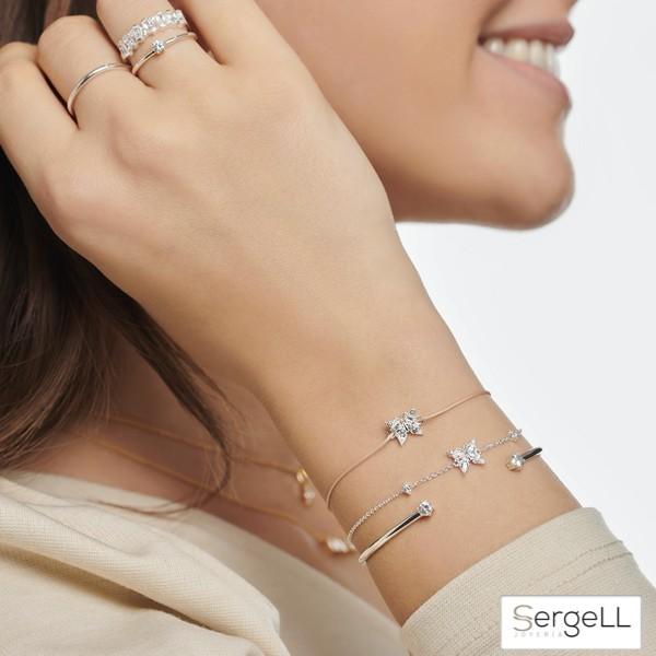 #A2028-051-14 thomas sabo #pulsera mariposa #thomas wear #joyas con nombre propio #pulseras de plata con mariposas