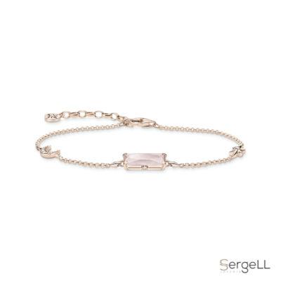 #thomas sabo A1911-417-9 #pulsera piedra rosa #thomas sabo pink quartz bracelet #en que mano se pone la pulsera de cuarzo rosa #pulsera de plata y cuarzo rosa #pulsera cuarzo rosa el corte ingles