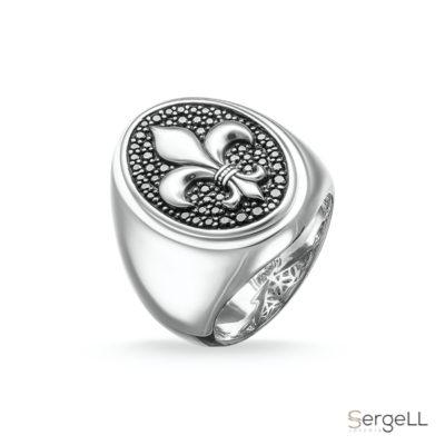 #anillo flor de lis hombre #anillo sello plata #anillo de sello #Thomas Sabo TR1803-051-11 #anillo de sello hombre