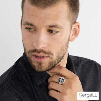 #anillo flor de lis hombre #anillo sello plata #anillo de sello #Thomas Sabo TR1803-051-11