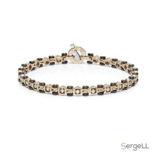 pulsera diamantes-oro-pulseras-diamante-hombre-alta gama