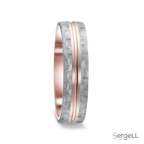 Anillo carbono anillos Titanio moda mujer para bodas oro y diamantes